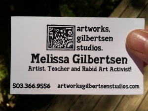 Gilbertsen Studios business card, 2008-2010