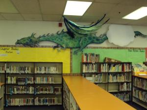 My recycled dragon resides in a local elementary school library.