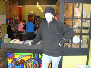 Melissa Gilbertsen, owner, Old Town Art Works, St. Helens, Oregon - 2009.