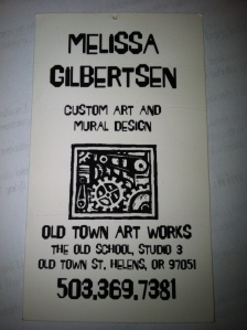 Old Town ArtWorks business card, 2007