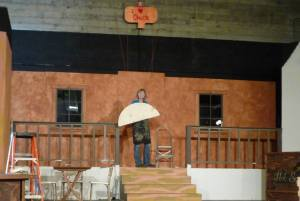 Getting things ready for the next play:  Dirty Deeds At The Depot!  Summer 2013