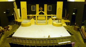 Longview Theater stage before I painted it as the Secret Garden... Spring 2013