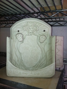 My Day of the Dead Alter, thank you very much! M. Gilbertsen 2013 - this is before it has been bisqued.