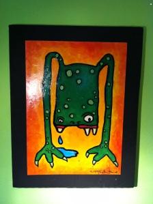 """Legs"" M. Gilbertsen 2008  Mixed media on recycled kayak box"