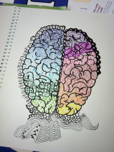Brain zentangle that well, bombed. M. Gilbertsen, 2013