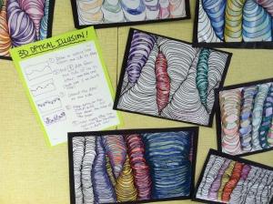 5th grade art lesson on Funky Line Design