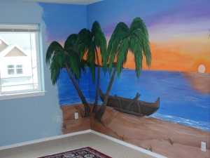 Tony's Man Cave... I paint what the client wants even if it's a wee bit cheesy... 2007