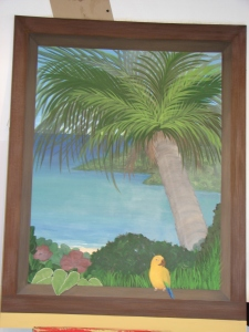 Right sided, finished panel of Plantation House Mural, M. Gilbertsen 2008